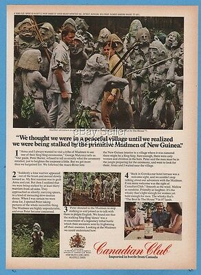 1971 Mudmen of New Guinea George Malynicz Peter Barter Canadian Club Whisky ad
