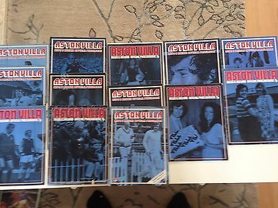 aston villa home program bundle 1972/73 x 13