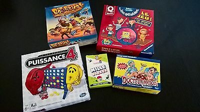 Lot De 5 Mini Jeux De Societe  Quick