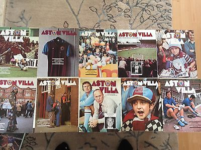 aston villa home program bundle 1975/76 x 10