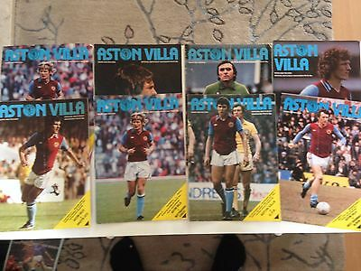 aston villa home program bundle 1978/79 x 8
