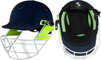 Kookaburra Pro 400 Navy Senior Cricket Helmet - Steel Grill
