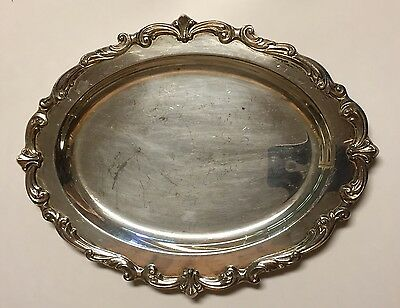 Vintage Towle Silverplate Oval Serving Platter Tray