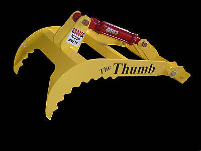 """New bucket Thumb grapple for Skid steer loader tractor(Small)20"""" 24"""" or 28"""" Long"""