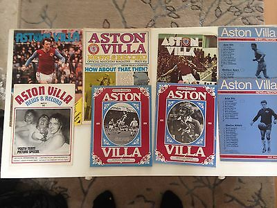 mixed aston villa programs x8 1970's(a)