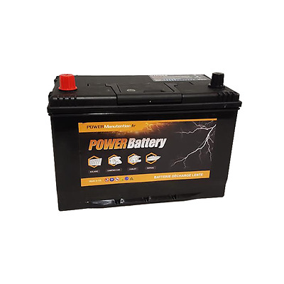 Batterie deep cycle decharge lente 12v 100ah 500 cycles de vie