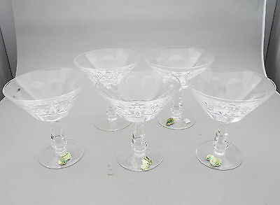 Waterford Crystal Rare Glencree Set Of 5 Champagne/cocktail Glasses Old Stock