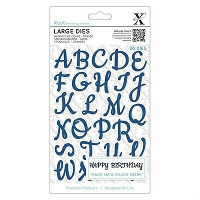 Docrafts Xcut Large Dies Script Alphabet Upper Case 26 Piece Die Set - New
