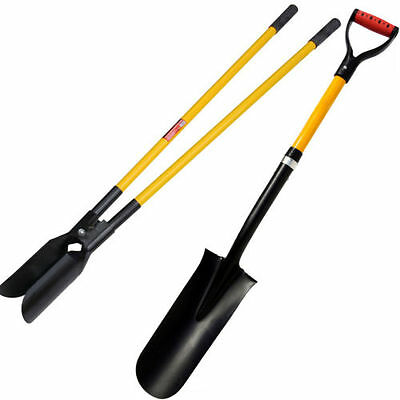Fencing Drain Spade Post  Yellow Fence Post Hole Digger Twin Shovel