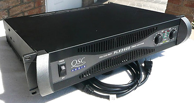 QSC PLX3402 Pro Power Amplifier - Qty) 2 to sell - Bid on one (1) - ExcCnd + wty