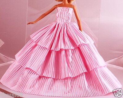 Hot Handwork soft wedding Party Dress/Evening Clothes/Gown For Barbie Doll  111