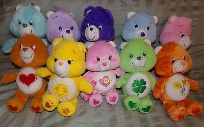 "Care Bears LOT OF 10 ~ Plush Teddy Bear 8""- 9"" ~ All Different ~ Friend Harmony"