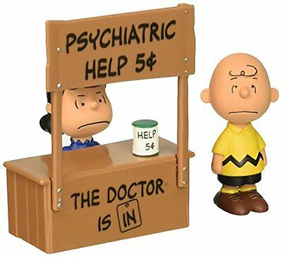 Schleich North America Psychiatric Booth Scenery Pack Peanuts Charlie Brown Lucy