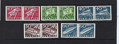 Sweden Scott 946-950 MNH With Pairs