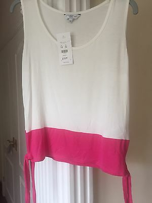 New Look Cream & Pink Block T Shirt. New With Tags Size 14 BNWT!