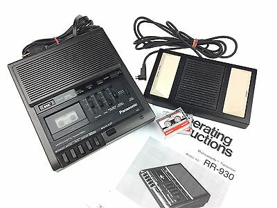 Panasonic RR-930 Microcassette Transcriber Dictation, W/ Foot Pedal, Tested