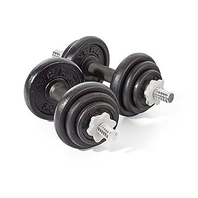 York Fitness Cast Iron Dumbbell Set - 20kg - Workout Exercise Training Weights