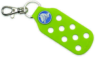 Crocs accessory keychain with clasp, rubber keychain with holes, bag of 2,green