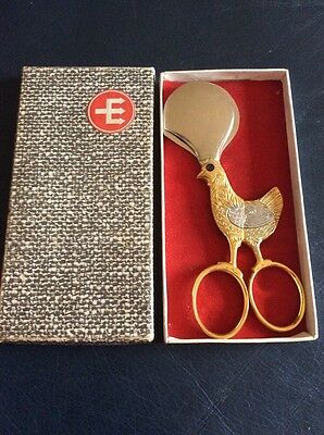 Vintage Dreizack Rostfrei Egg Scissors, Unused Boxed.