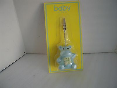 Blue Hippo Baby Picture Clip Holder