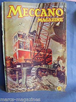 Meccano April 1953 Old Haddington Bridge Mobile Cranes Angel Fall Upper Yosemite