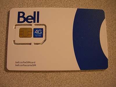 Bell Regular Sim card 4G LTE