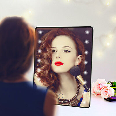 Touch Screen 16 LED Illuminated Portable Make Up Tabletop Cosmetic Mirror HS933
