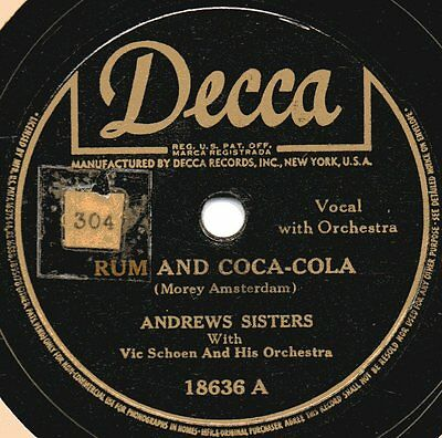 "78er Swing Andrews Sisters ""Rum And Coca-Cola"""