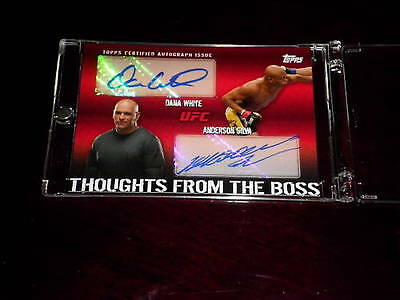 Topps Ufc 2010 Thoughts From The Boss Anderson Silva Dana White Dual Auto 06/25