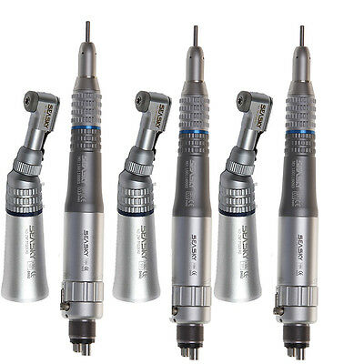 USA 3 NSK Style Dental E-type Low Speed Handpiece Contra Angle Motor 4-Hole