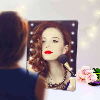 Touch Screen 16 LED Illuminated Portable Make Up Makeup Tabletop Cosmetic Mirror
