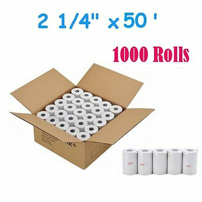 "1000 Rolls 2 1/4"" x 50' Thermal Cash Register POS Receipt Paper Free Shipping"