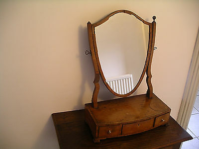 Antique mahogany dressing table mirror Late George III