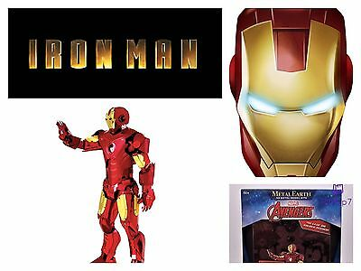 Metal Earth 3D Metal Model Kit The Iron Man Marvel Avengers Advanced 14 +