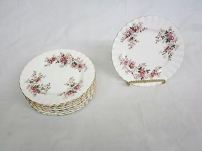 Lot of 10  Royal Albert Lavender Rose bread and Butter Plates 6 3/8 inch England