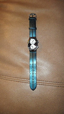 philip  stein 1-tf147482 stainless leather  watch women's