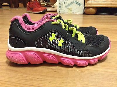 Girls Youth Under Armour Assert IV Running Shoes Size 1Y
