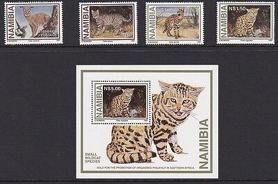 NAMIBIA 1997 Wildcats complete mint set sg718-722 MNH