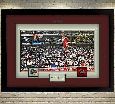 Michael Jordan signed autograph Basketball Memorabilia NBA Framed #008