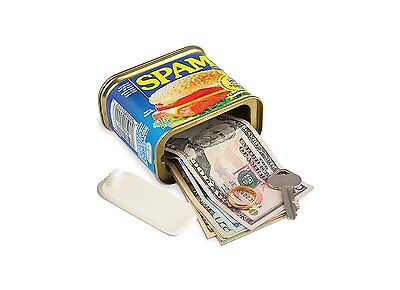 Spam Can Safe Hidden Storage Diversion Secret Stash Cash Hide Valuables Things