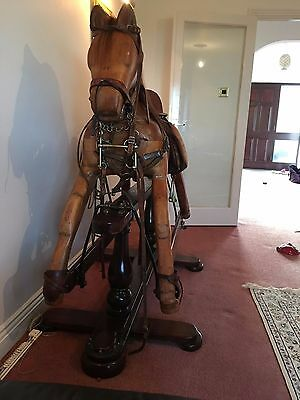 large oakwood rocking horse