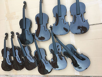 10 violins 4 x 4/4 & 6 x 3/4 All missing parts, luthier or repairable or prop