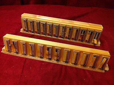 Vintage Silver Italian Accordion Repair Part - Bass Reeds 4 x 12