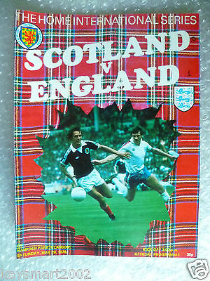 1978 SCOTLAND v ENGLAND, 20th May International Match Programme