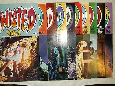 twisted tales horror comics lot of 10 books for sell. mike ploog, alfredo alcala