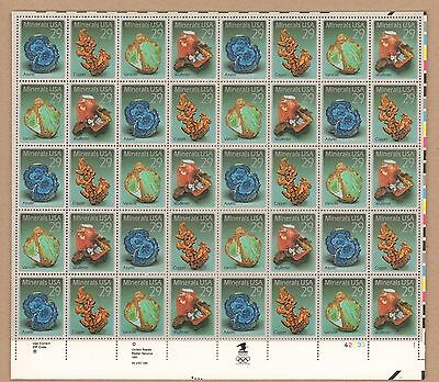 {BJ Stamps}   2700-2703  Minerals.   MNH  29¢ Sheet of 40.    Issued  1992