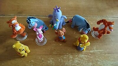 9 Disney Micro World Winnie The Pooh Figures & Friends