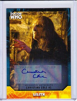 Doctor Who Signature Series Trading Card Autograph Christina Cole
