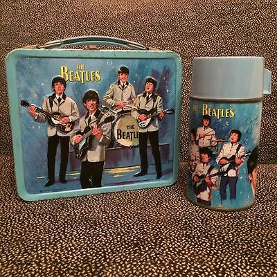 The Beatles 1965 Vintage Metal Lunchbox by Aladdin + Original Thermos And Parts