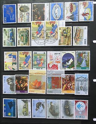 IRELAND selection 60 commemoratives (Some sets) mint /fine used 2 Scans